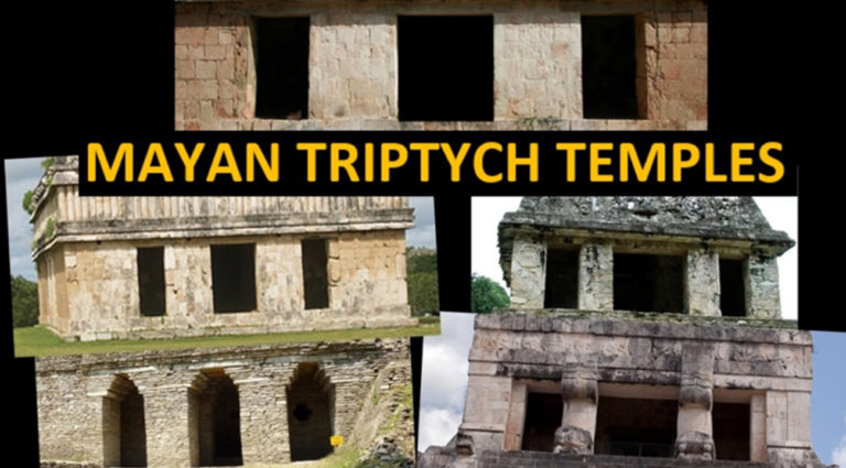 Mayan Triptych Temples