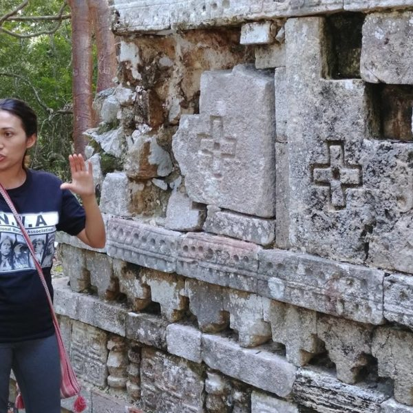Karina explains the relationship between a World Tree, and the Christian Cross by noting how the Maya viewed the Cross