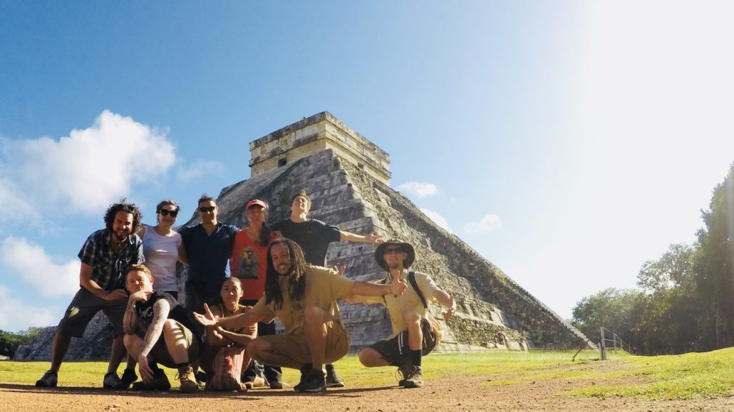 Mysteries of the Maya, 2017 - Adept Initiates' members of the study group @ Chichen Itza | Photo by Carl Webley