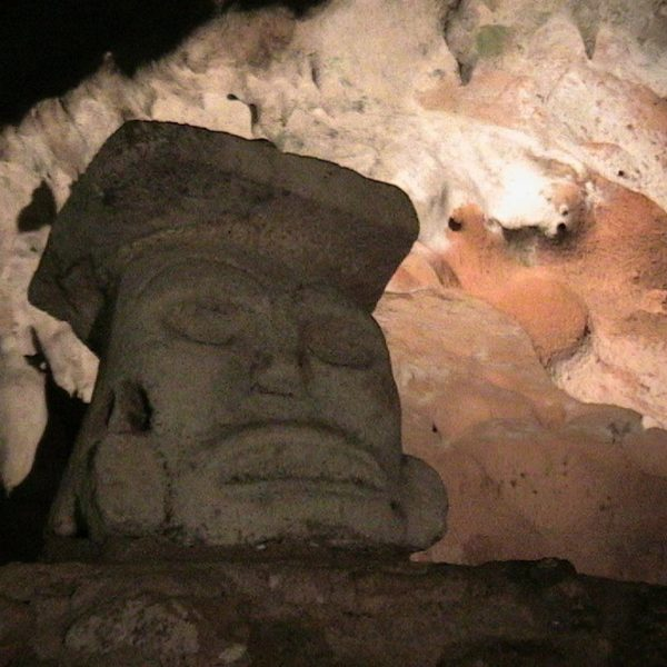 Olmec Head found inside Lol-Tun Cave