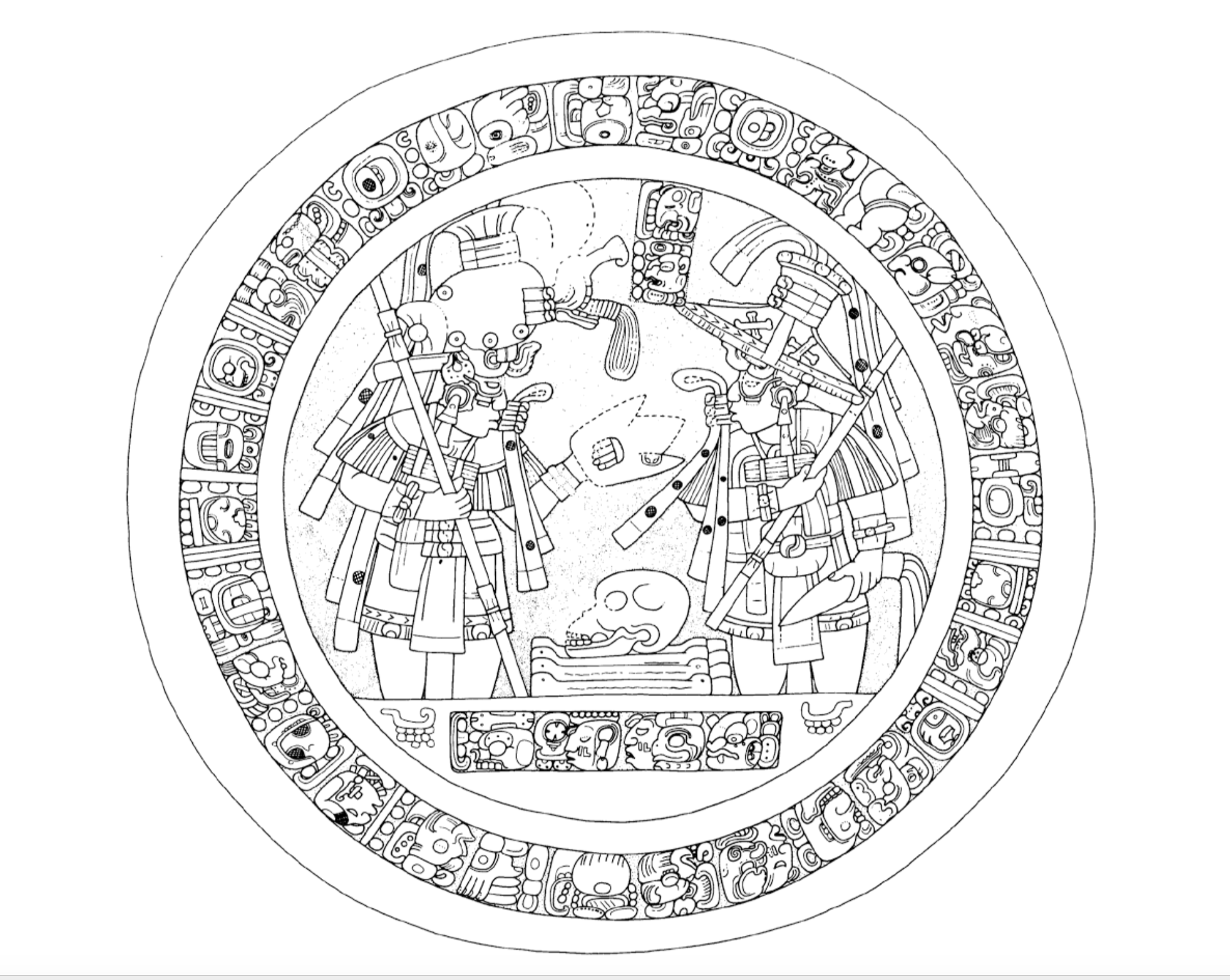 Are these mayan glyphs the symbols of master masons adept so what do the cross and bones represent for the maya biocorpaavc
