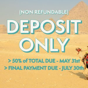 Deposit Only Egypt Tour