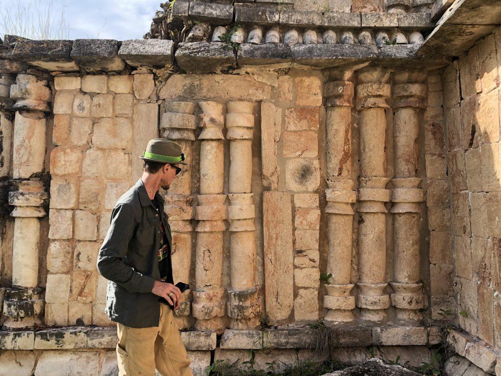 Investigating Labna Ruins Yucatan Tour