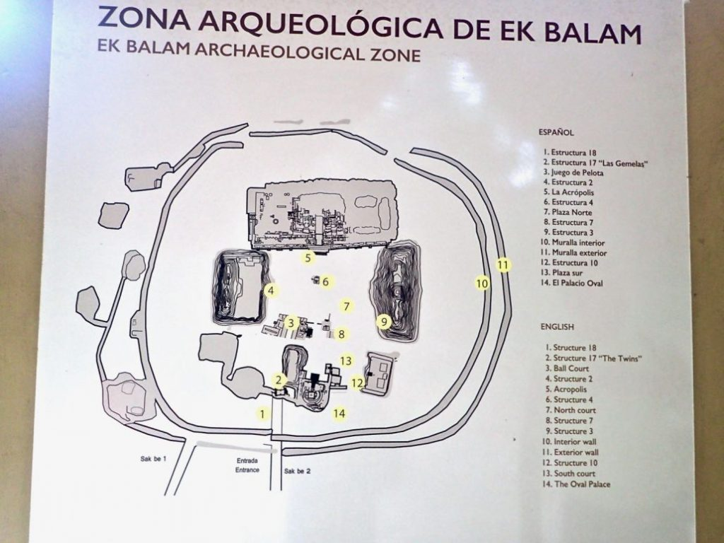 Ek Balam site map