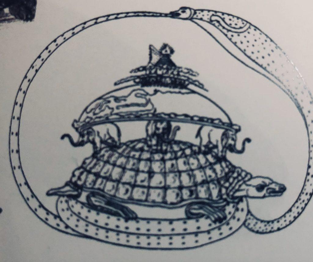 Hindu Cosmogram Vishnu Turtle Symbolism