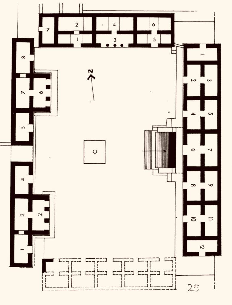 Quadrangle of the Birds Uxmal floor plan Adept Expeditions