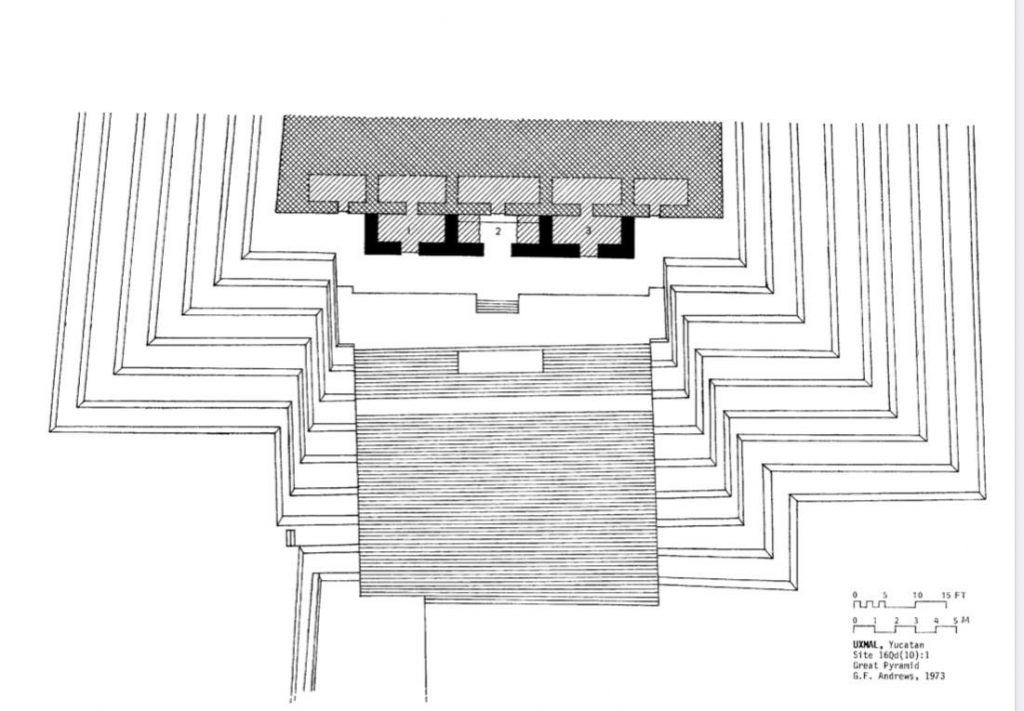 Uxmal Great Pyramid Floor plan Adept Expeditions