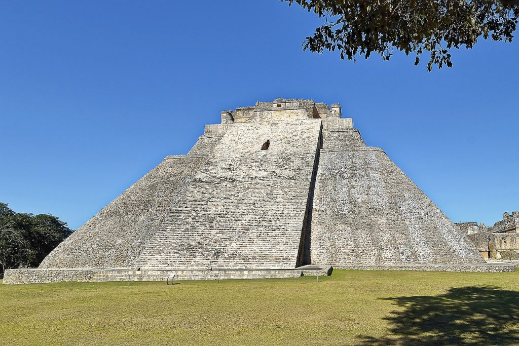 pyramid magician central america, mexico, uxmal