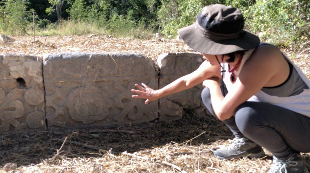 karina Itzcoatl explains cemetery uxmal symbolism
