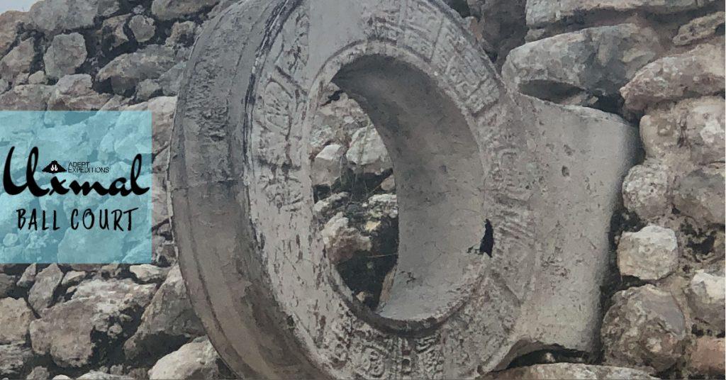 uxmal ball court stone ring marker