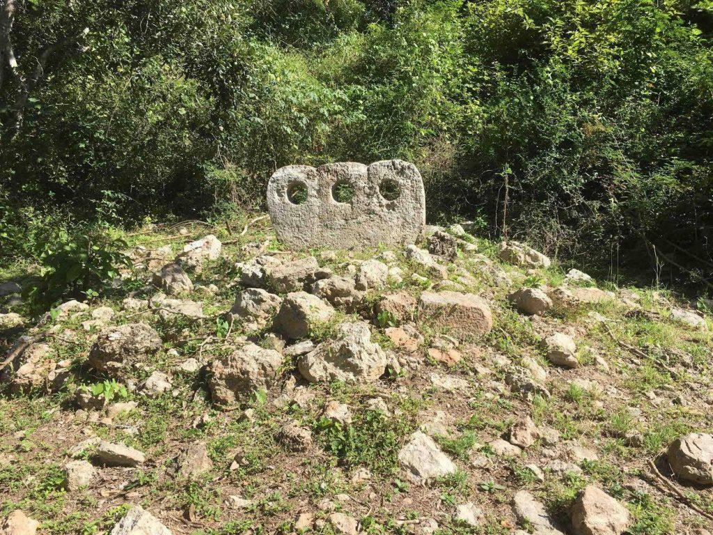 uxmal cemetery group stone
