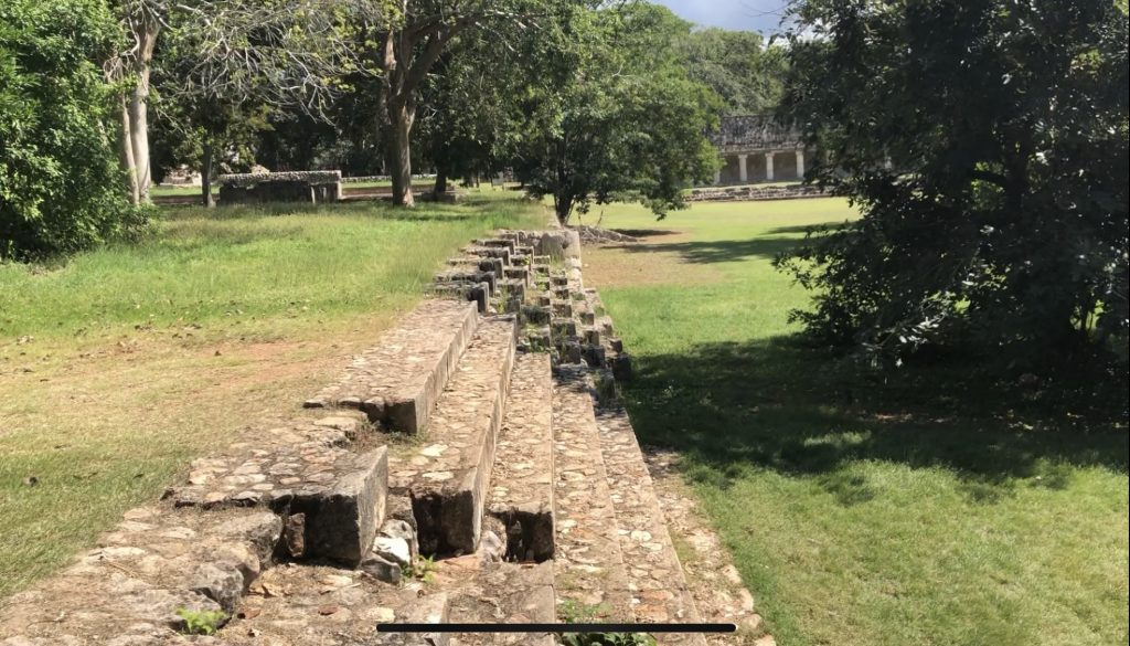 uxmal steps from nunnery to ball court -min