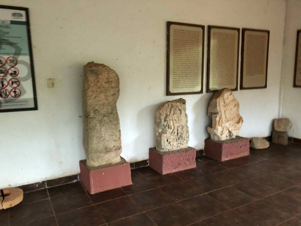 stelae sayil mayan ruins yucatan puuc route