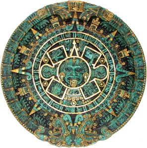aztec, calendar, round