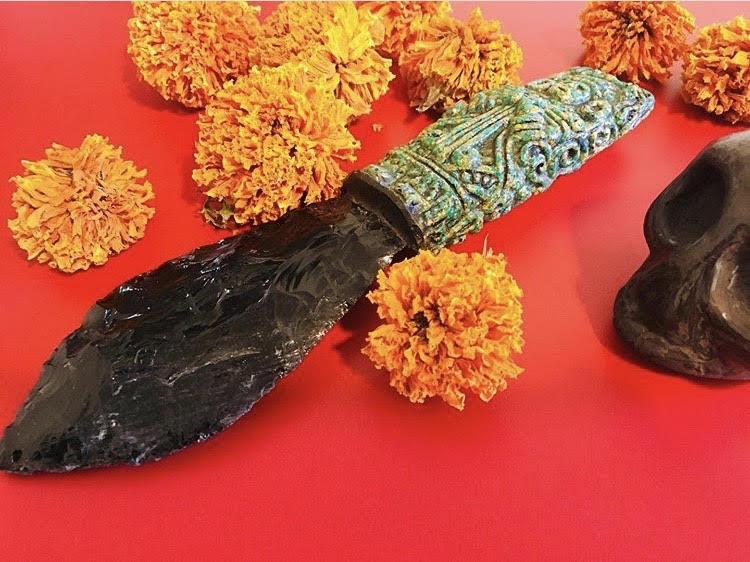 obsidian blade aztec flowers