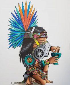 lil coyote aztec dancer